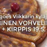 Improa ja vohveleita – PYT mukana Viikkarin kyläjuhlassa 19.5.