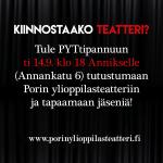 Tutustu ylioppilasteatterin toimintaan & liity joukkoon 14.9.!